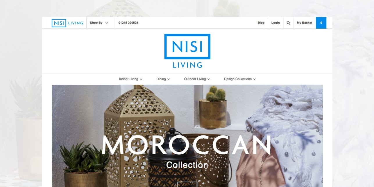 Nisi Living brand and ecommerce website